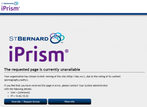 iPrism blocked message
